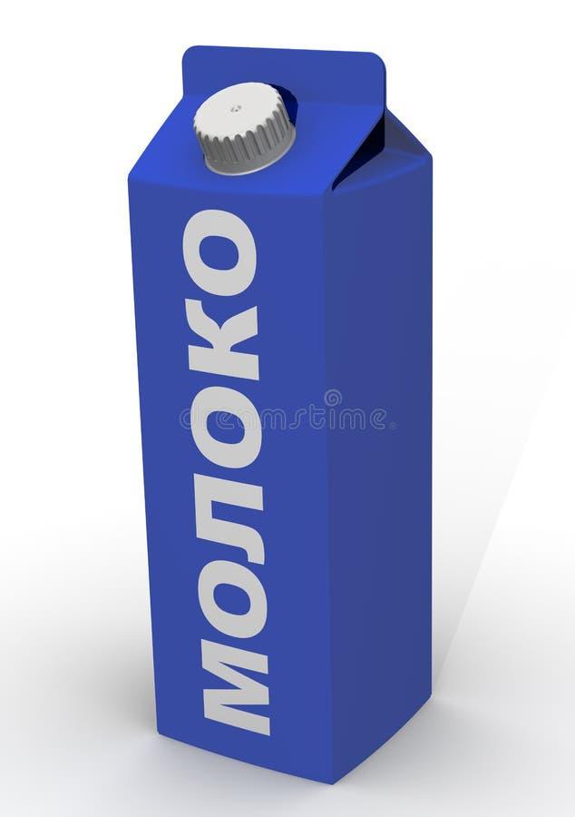 Emballage de lait D'isolement illustration de vecteur