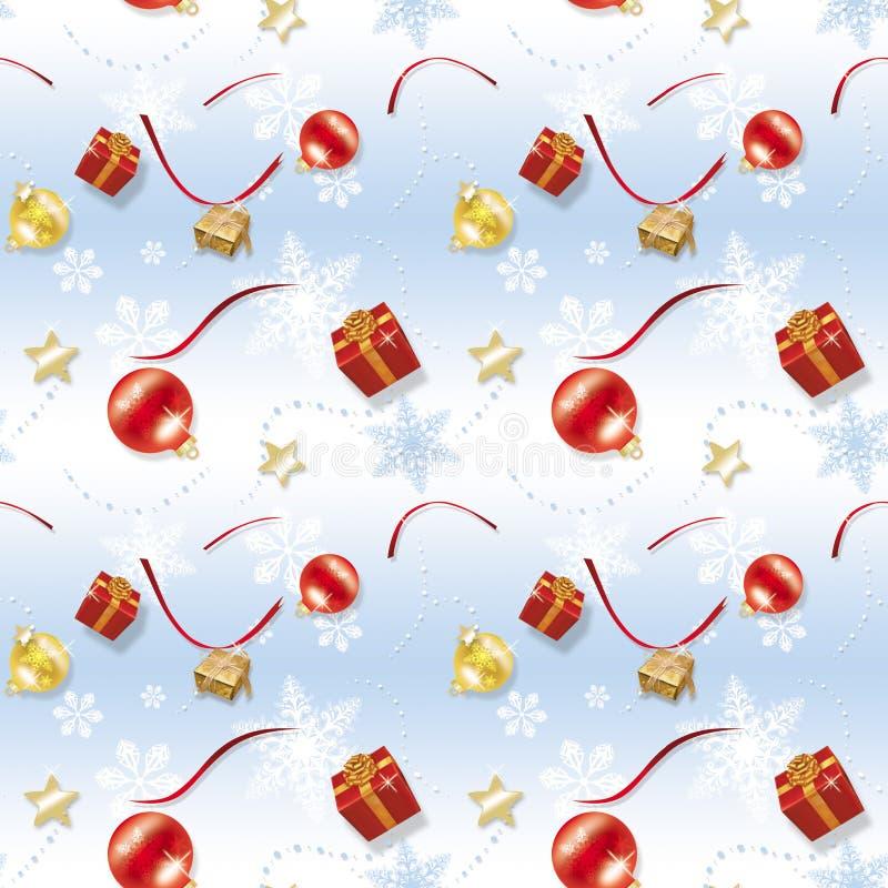 emballage de papier de Noël bleu d'enfant illustration stock