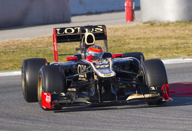 Emballage de Romain Grosjean image libre de droits