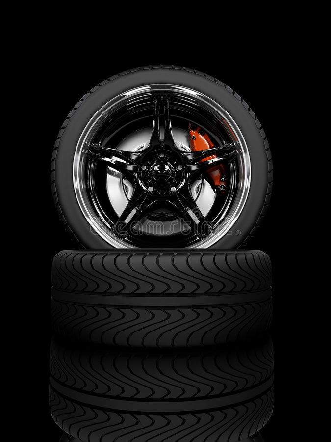 emballage des roues illustration stock
