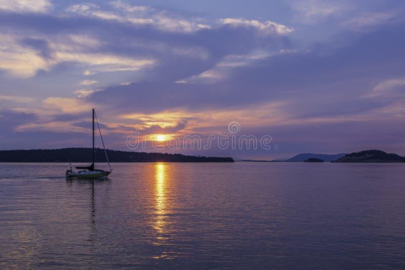 Emballage du coucher de soleil images stock