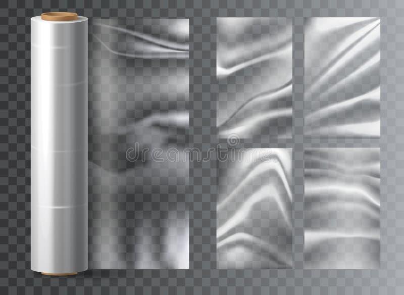 Emballage en plastique de polyéthylène léger isolé illustration stock