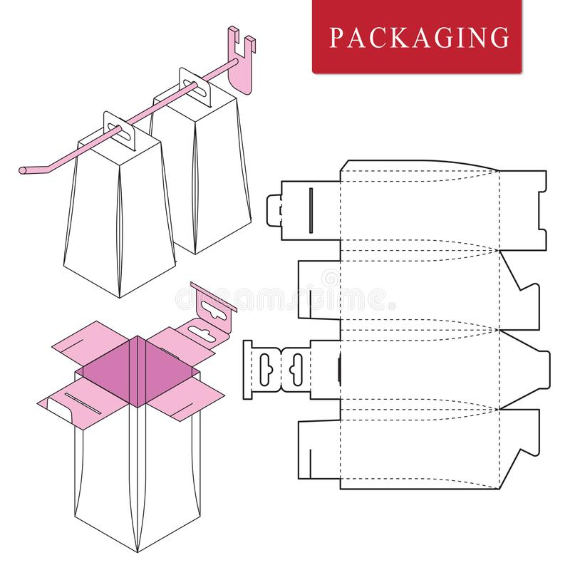 Emballage pour le coup avec le crochet Illustration de vecteur de l'emballage illustration de vecteur
