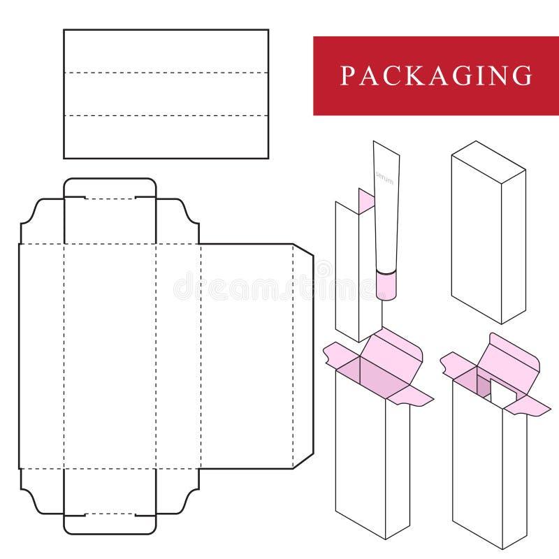 Emballage pour le produit de cosm?tique ou de soins de la peau illustration de vecteur