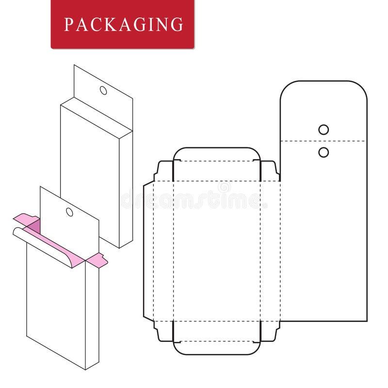 Emballage pour le produit de cosm?tique ou de soins de la peau illustration libre de droits