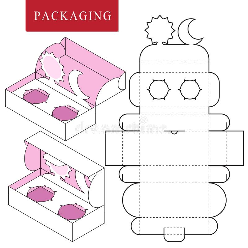 Emballage pour le produit de cosm?tique ou de soins de la peau Paquet pour l'objet illustration de vecteur