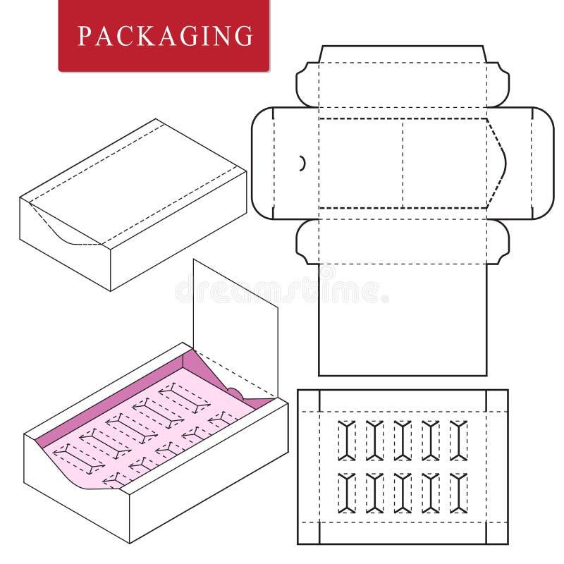 Emballage pour le produit de cosm?tique ou de soins de la peau illustration stock