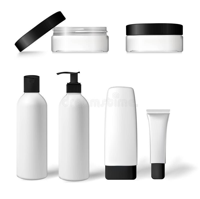 Emballage pour le shampooing, crème, lotion, tonique illustration de vecteur