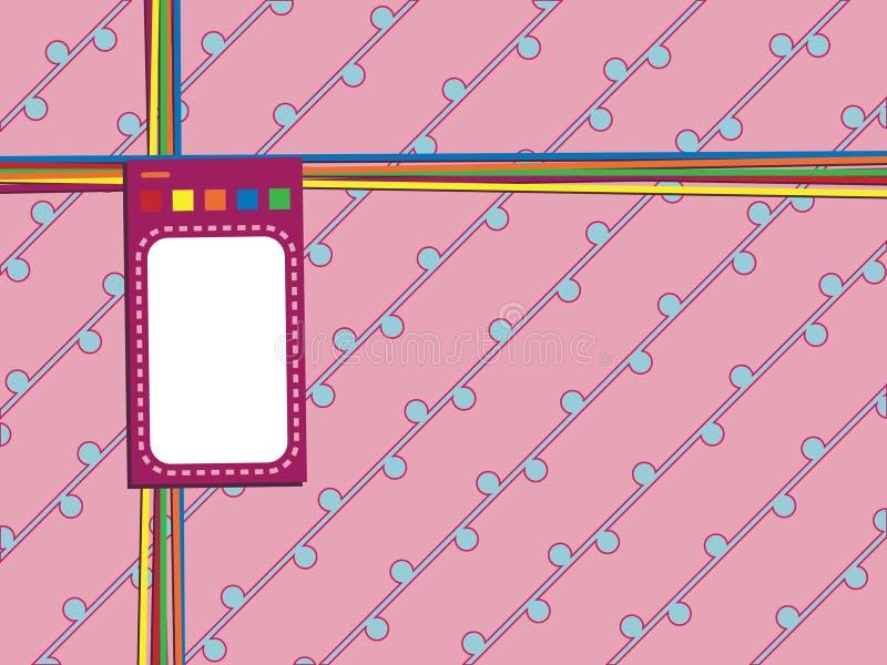 Emballage rose avec l'étiquette illustration libre de droits