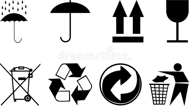 emballage subjects symboler stock illustrationer