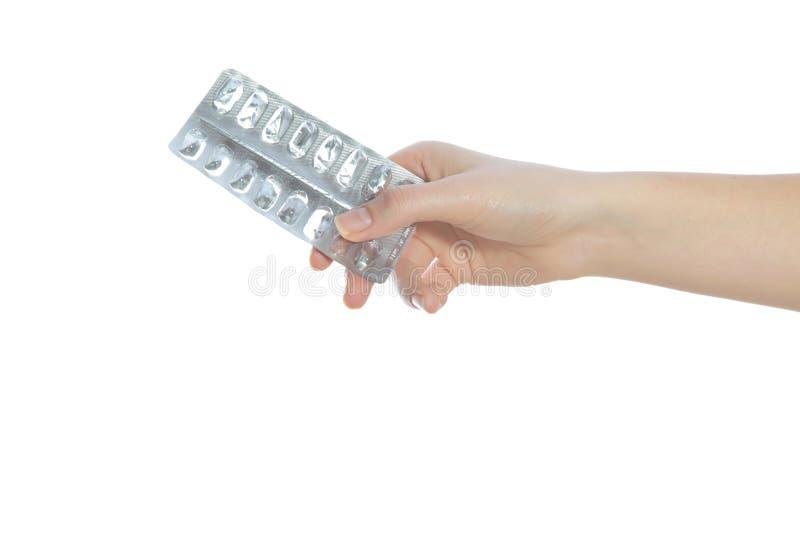 Emballage vide de médicament photographie stock