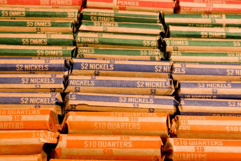 Emballages de pièce de monnaie image stock