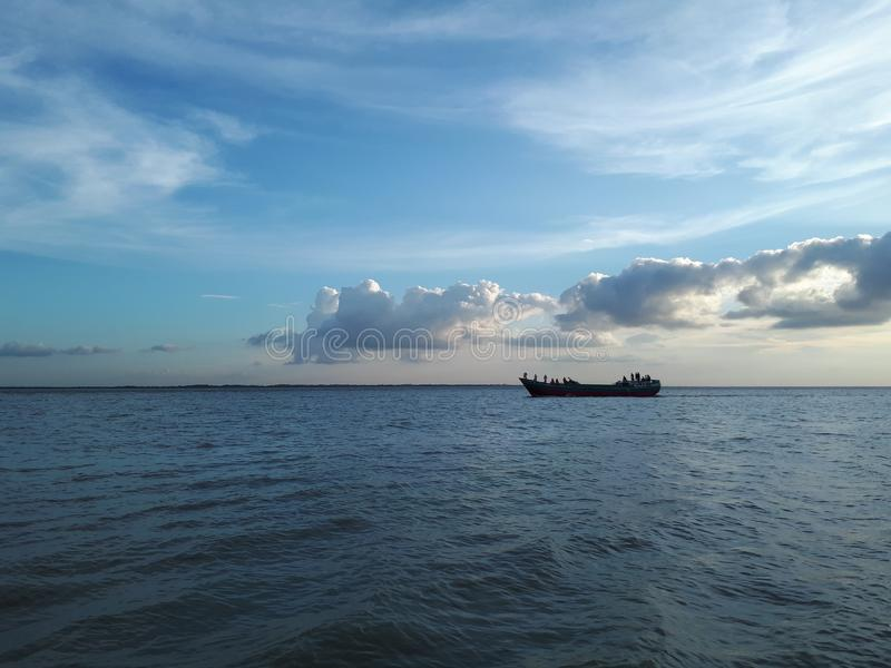 Emballant avec des nuages, munshiganj, Bangladesh photographie stock