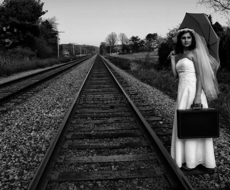 emballement de mariée photographie stock
