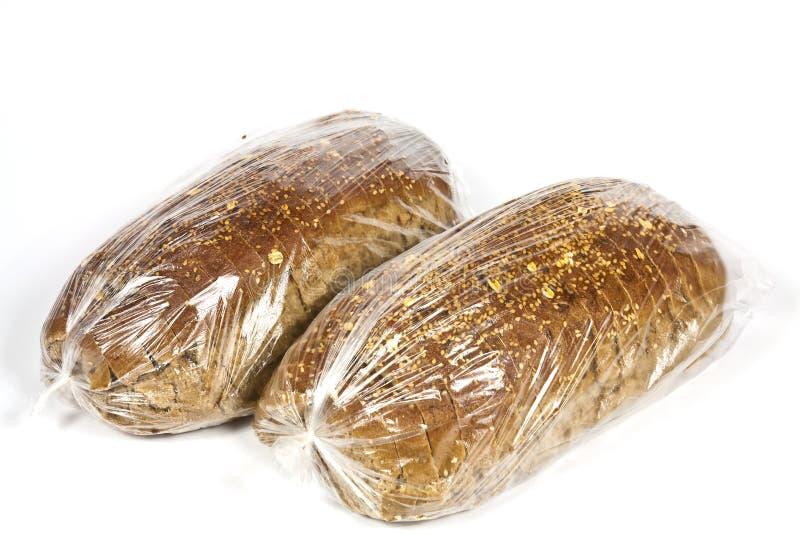 Emballerat i plast- bröd royaltyfri bild
