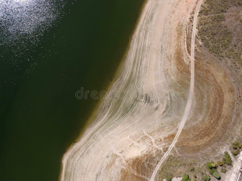 Embalse de Pedrezuela Aerial Photo 3 stock image