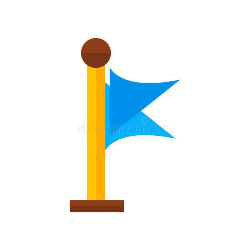 Embandeire o sinal e o símbolo do vetor do ícone isolados no fundo branco, F ilustração do vetor