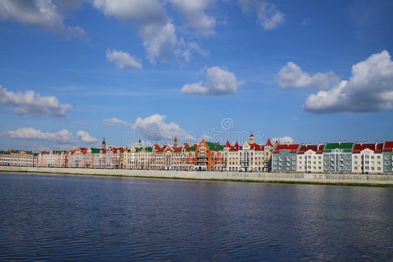 Embankment Bruges in Yoshkar-Ola. Russia royalty free stock image