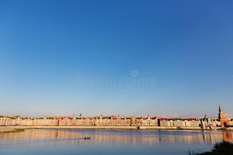Embankment Bruges in Yoshkar-Ola, Russia stock images