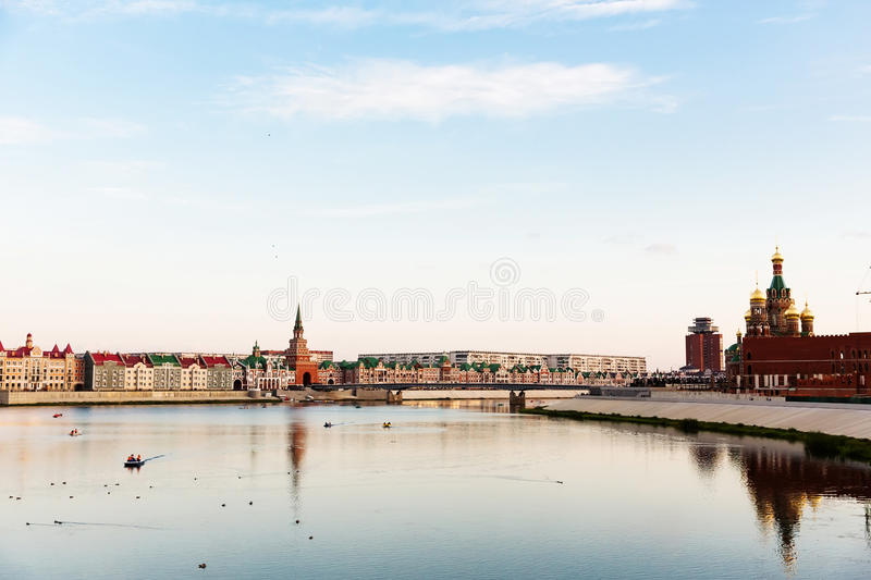 Embankment Bruges in Yoshkar-Ola, Russia royalty free stock images