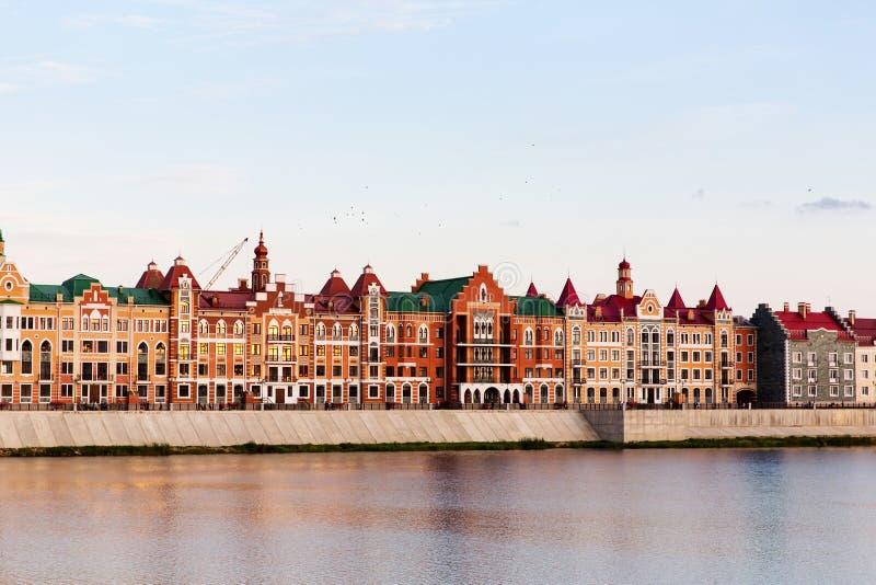 Embankment Bruges in Yoshkar-Ola, Russia royalty free stock image