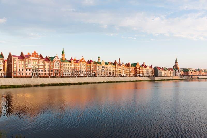 Embankment Bruges in Yoshkar-Ola, Russia royalty free stock photo
