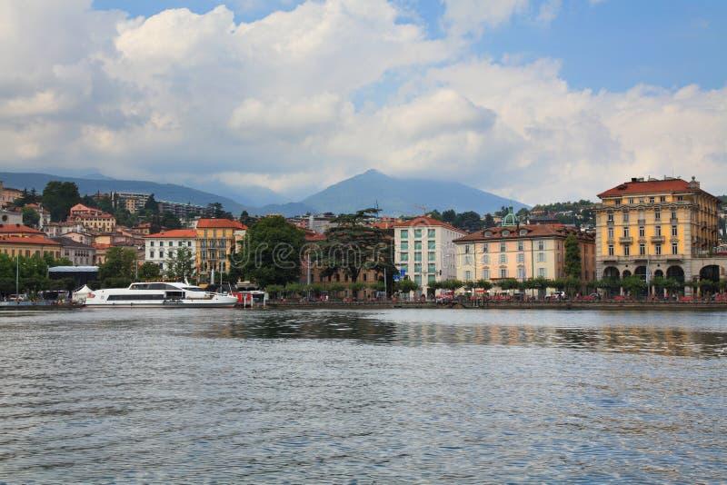 Embankment of the city of Lugano royalty free stock image