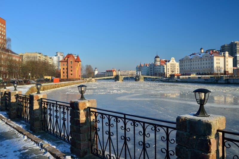 Embankment of the Fishing Village. Kaliningrad, Russia stock photo