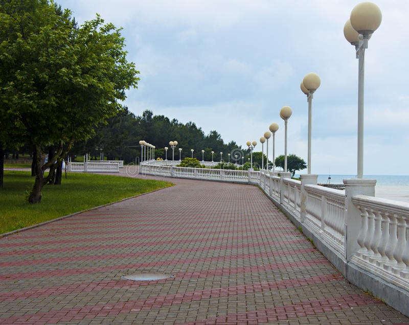 Embankment in gelendzhik. Russian federation on summer royalty free stock photography