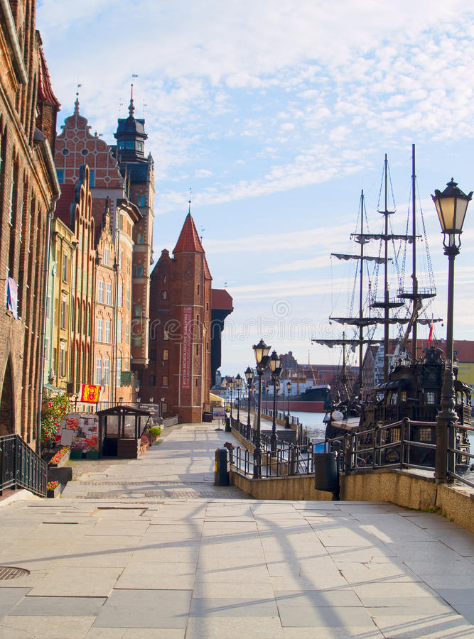 Download Embankment  Of Motlawa River, Gdansk Stock Image - Image of moltawa, historic: 21272671