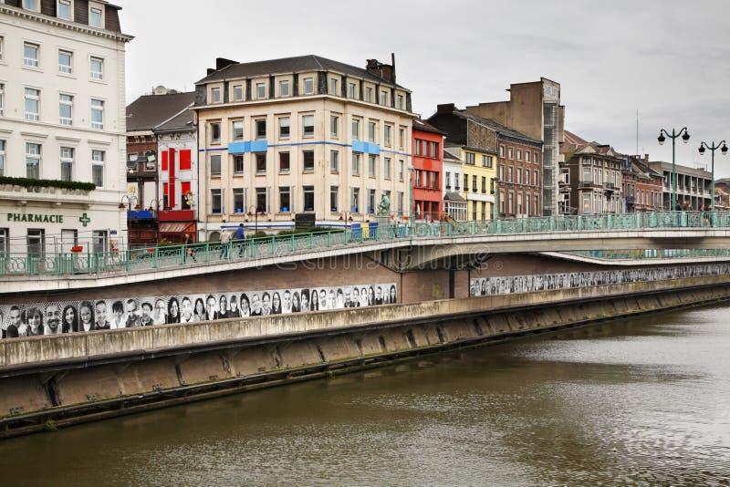 Embankment of the river Sambre in Charleroi. Belgium royalty free stock photos