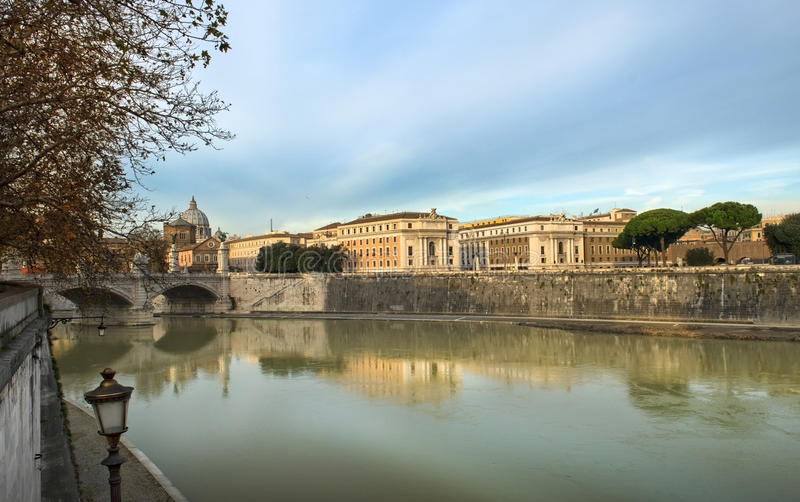 Download Embankment Of The River Tiber, Rome Stock Image - Image of ponte, holiday: 29225927