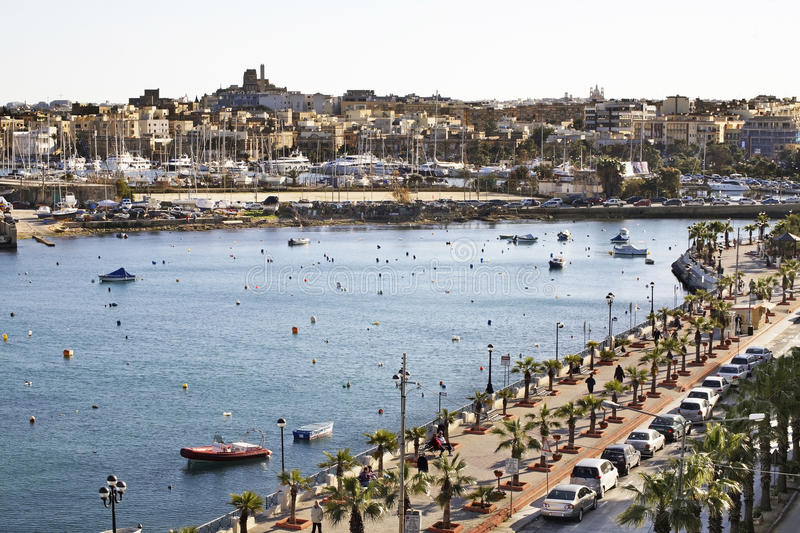 Embankment in Sliema (Tas-Sliema). Malta island.  royalty free stock photography