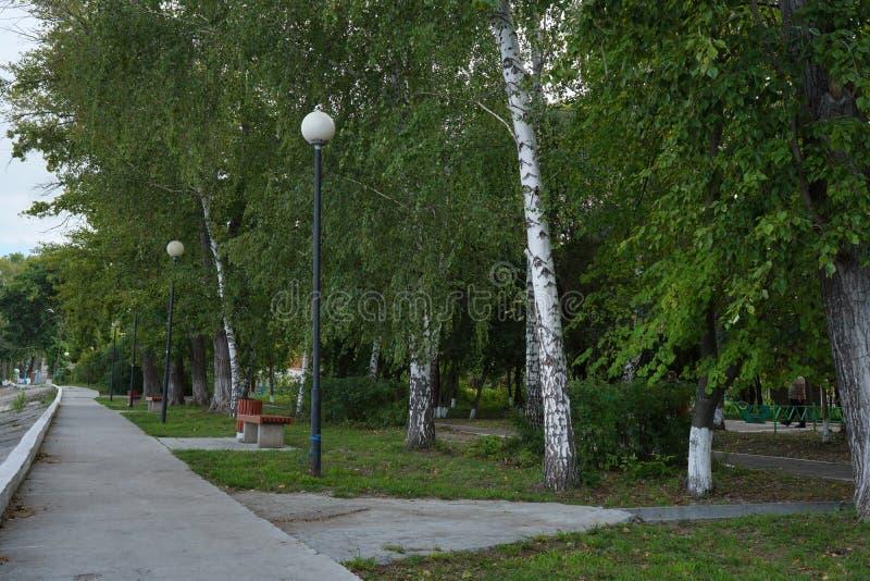 Embankment by the Volga River. Ulyanovsk Region. Sengiley city. stock photos