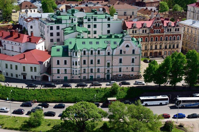 Embankment in Vyborg, Leningrad oblast, Russia royalty free stock photos