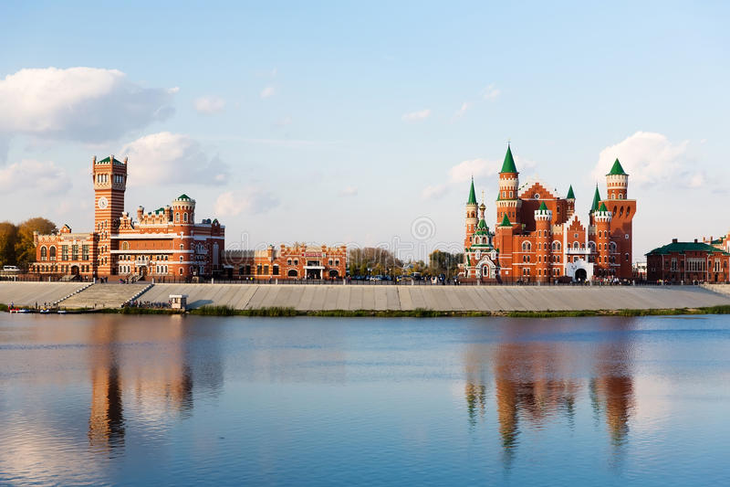 Embankment in Yoshkar-Ola. Russia royalty free stock photos