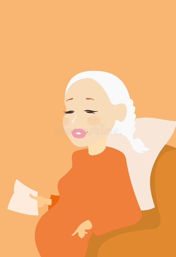 Embarazada stock de ilustración