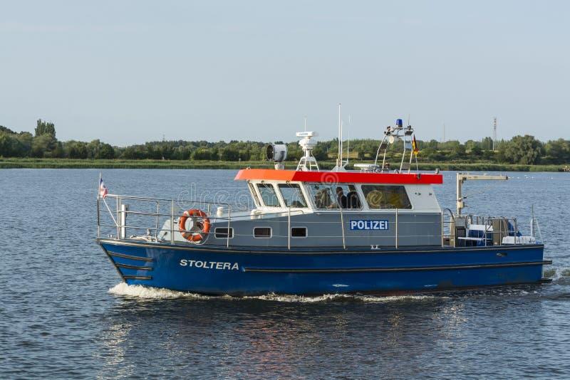Embarcação alemão Stoltera da polícia fotografia de stock