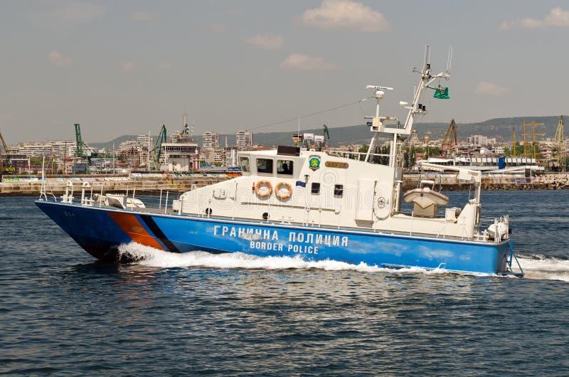 Embarcação búlgara da polícia fronteiriça imagem de stock