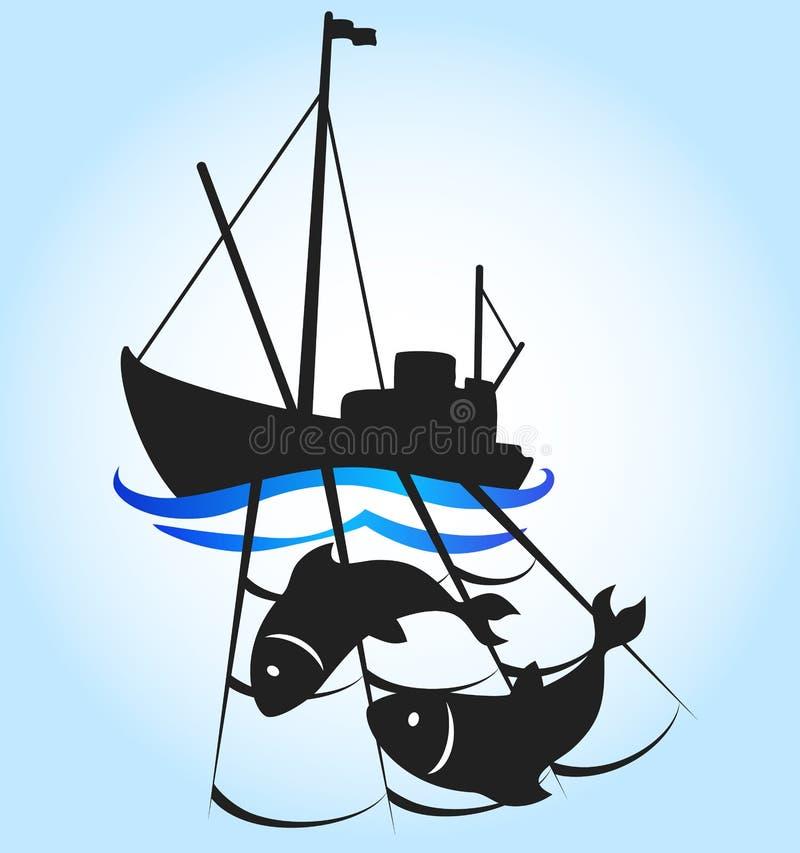Embarcação de pesca ilustração do vetor