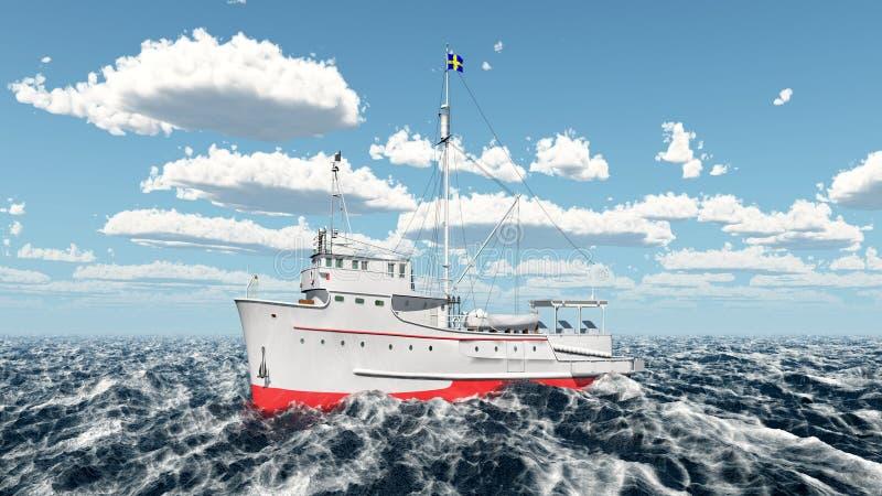 Embarcação de pesca do atum ilustração stock