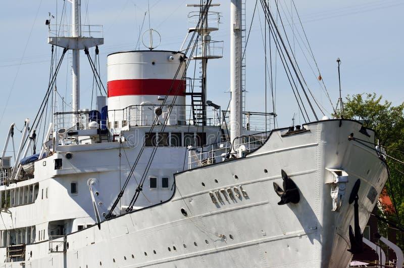 Embarcação de pesquisa Vityaz Kaliningrad, Rússia imagens de stock