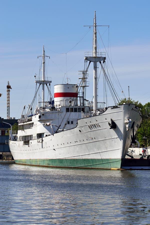 Embarcação de pesquisa Vityaz Kaliningrad, Rússia imagens de stock royalty free