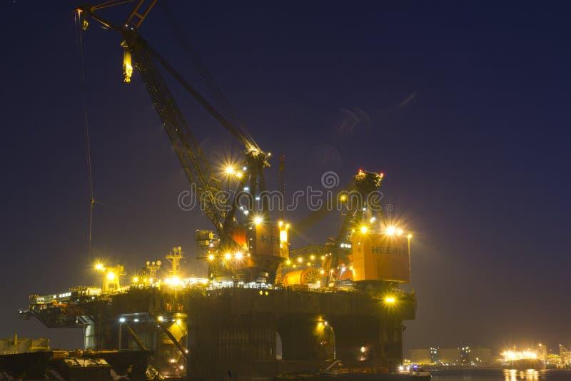 Embarcação Deep-water da construção foto de stock royalty free
