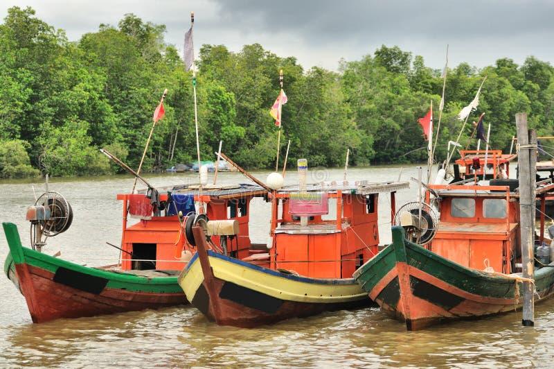 Embarcações de pesca fotografia de stock