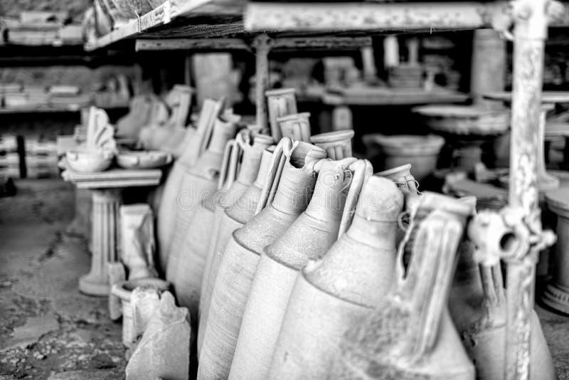Embarcações do vinho da ânfora fotografia de stock