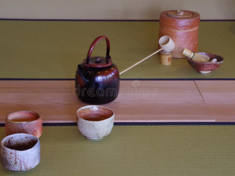 Embarcações japonesas do chá fotos de stock royalty free