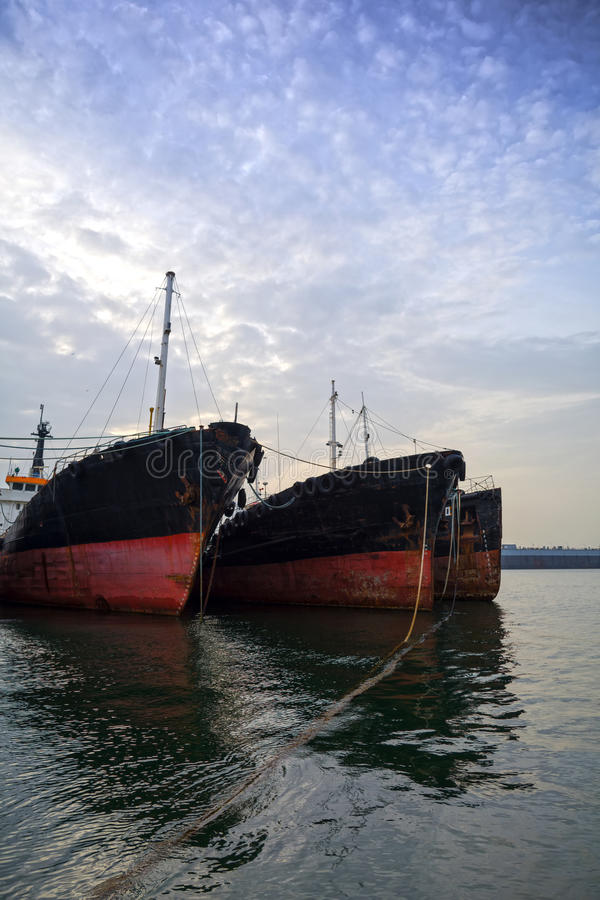 Embarcações velhas imagens de stock