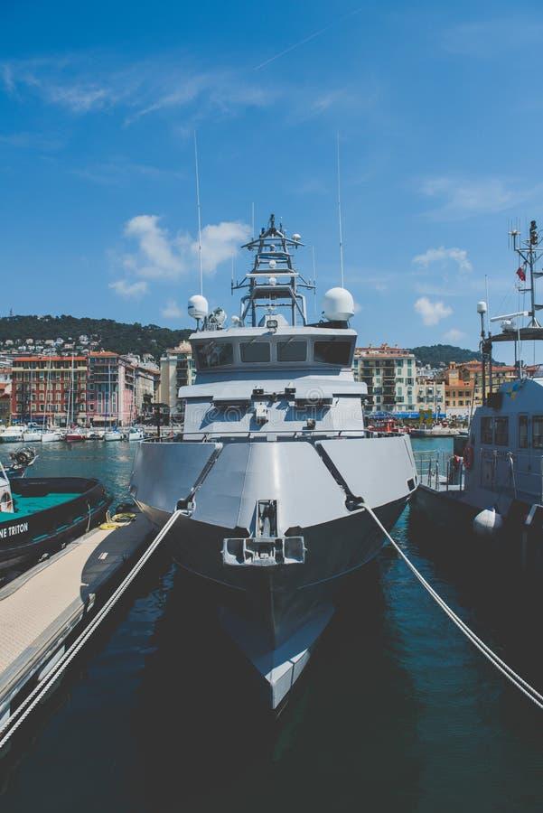 Embarcación - Niza, Francia foto de archivo libre de regalías