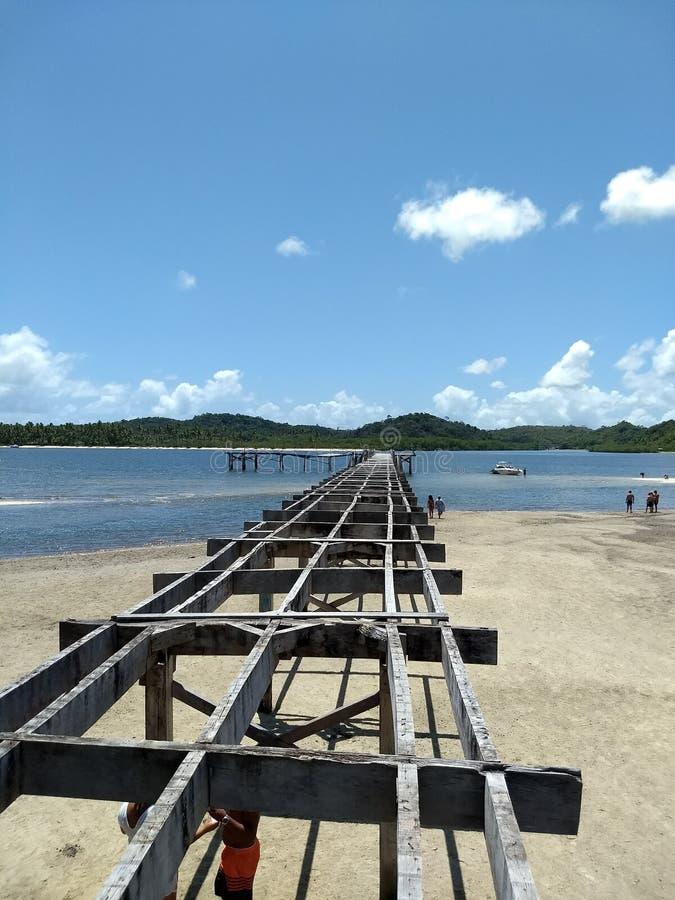 Embarcadero abandonado en Guadalupe Beach fotos de archivo libres de regalías